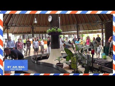 Koh Samui International Airport USM - Arrivals area including baggage claim and airport transfer