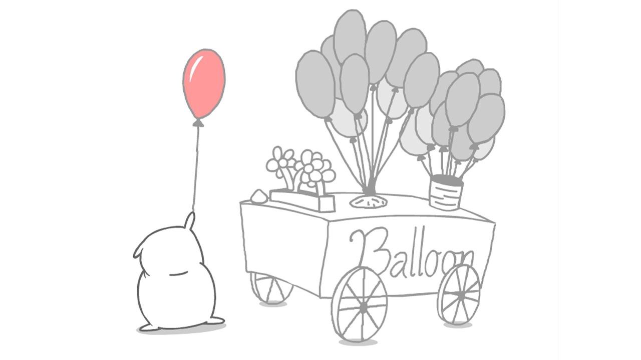 balloon stand cute floursack animation youtube