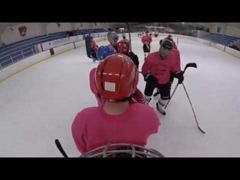 D League Hockey Defenseman wears a GoPro