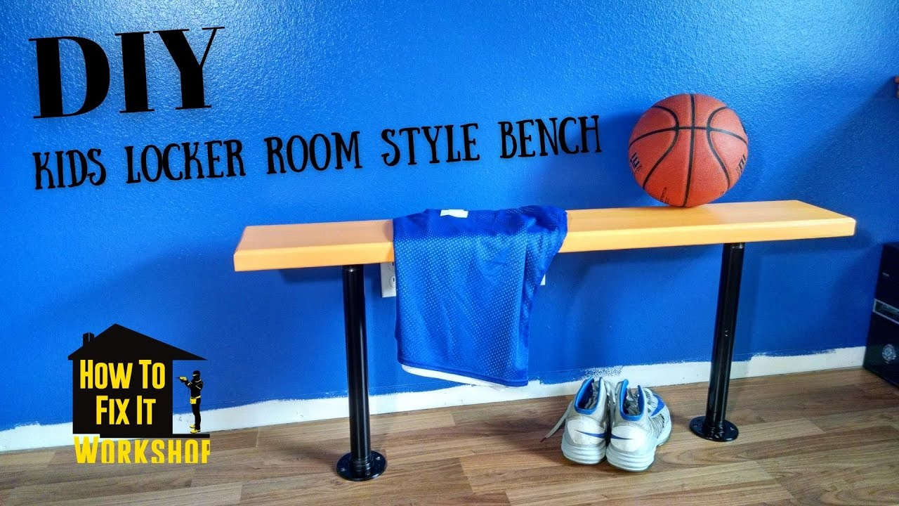 How To Build a Locker Room Style Bench for Boys Bedroom - YouTube