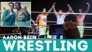 Tim Wiese, Chris Jericho & Die Lochis   Aaron beim Wrestling