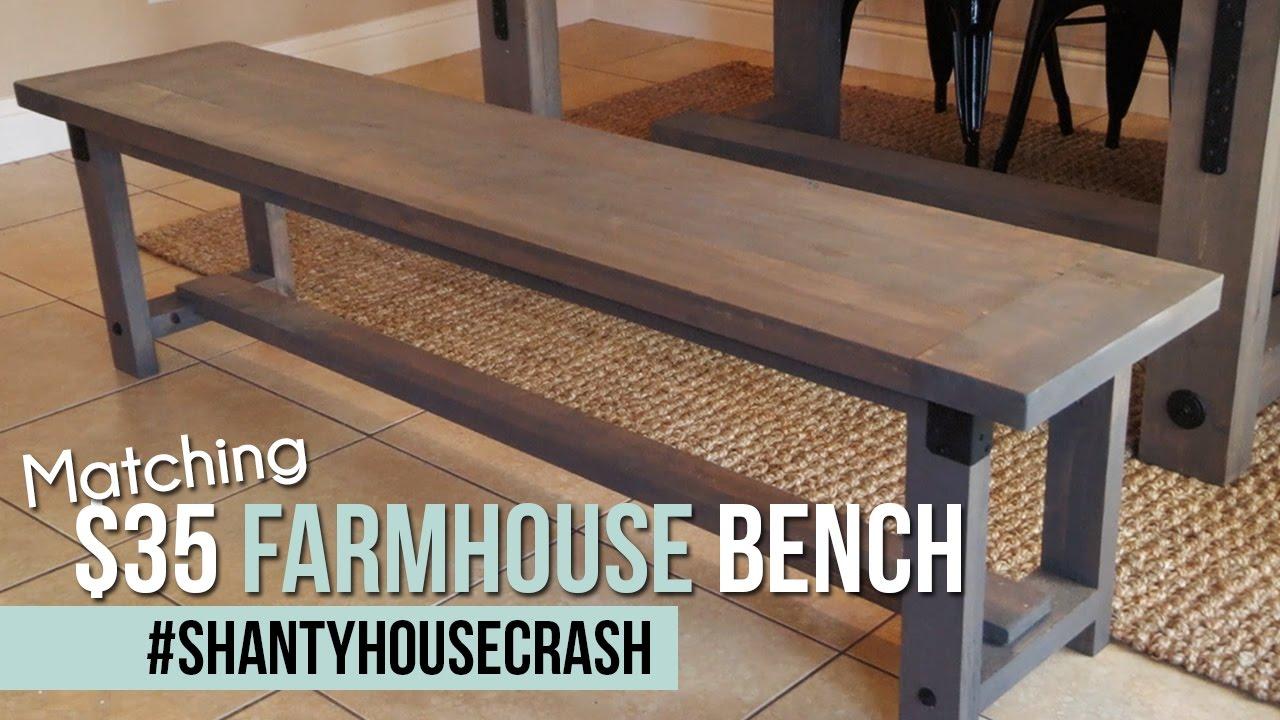 Industrial Farmhouse Bench Shantyhousecrash