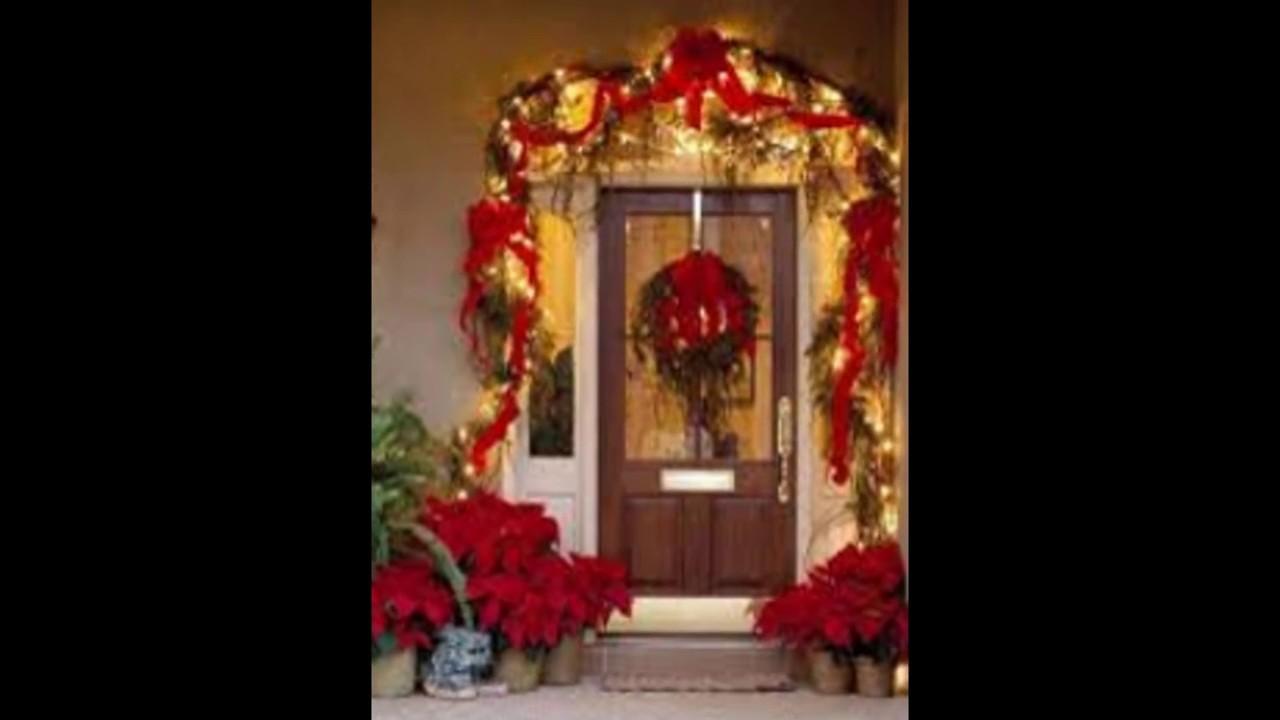 Decoraciones navide as para ventanas y puertas hermosas for Arreglo para puertas de navidad