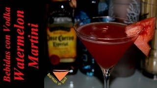 Como Hacer Un Martini Watermelon
