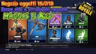 Fortnite Shop 7/15/18 New MAGNUS skin and Avo collection tool