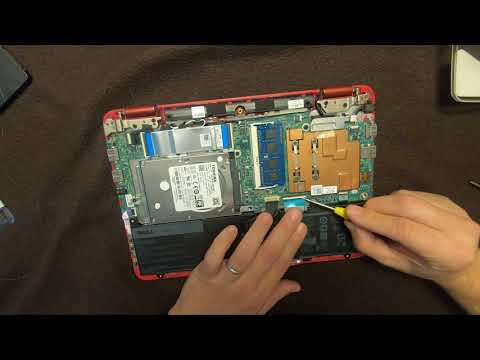 Installing hard drive and memory on Dell Inspiron 11 3000 series (3168).  Also fixed keyboard