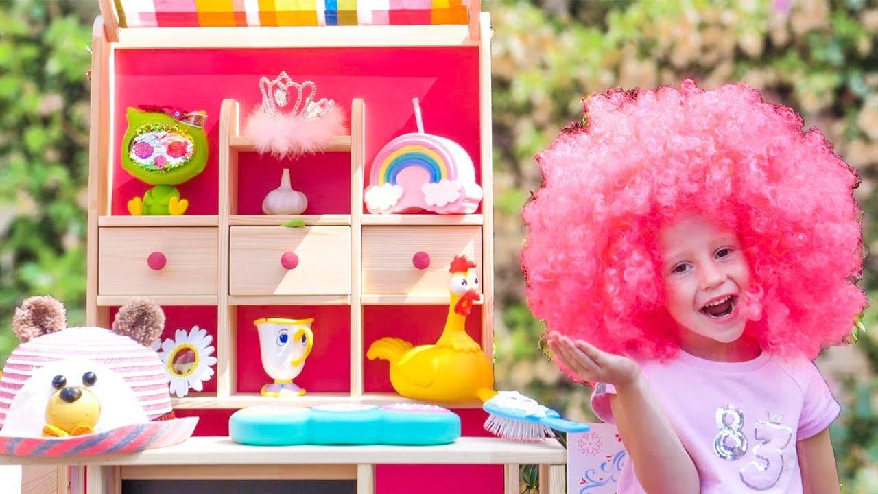 Настя и папа играют в магазин волшебных товаров  Nastya and papa pretend play with magic toy shop