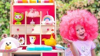 Настя и папа играют в магазин волшебных товаров / Nastya and papa pretend play with magic toy shop
