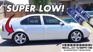 VW MK4 SOLOWERKS COILOVER INSTALL!