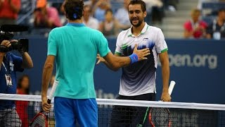 Marin Cilic VS Roger Federer Highlight 2014 SF