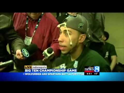 Interview From Inside MSU Locker Room After B1G Championship
