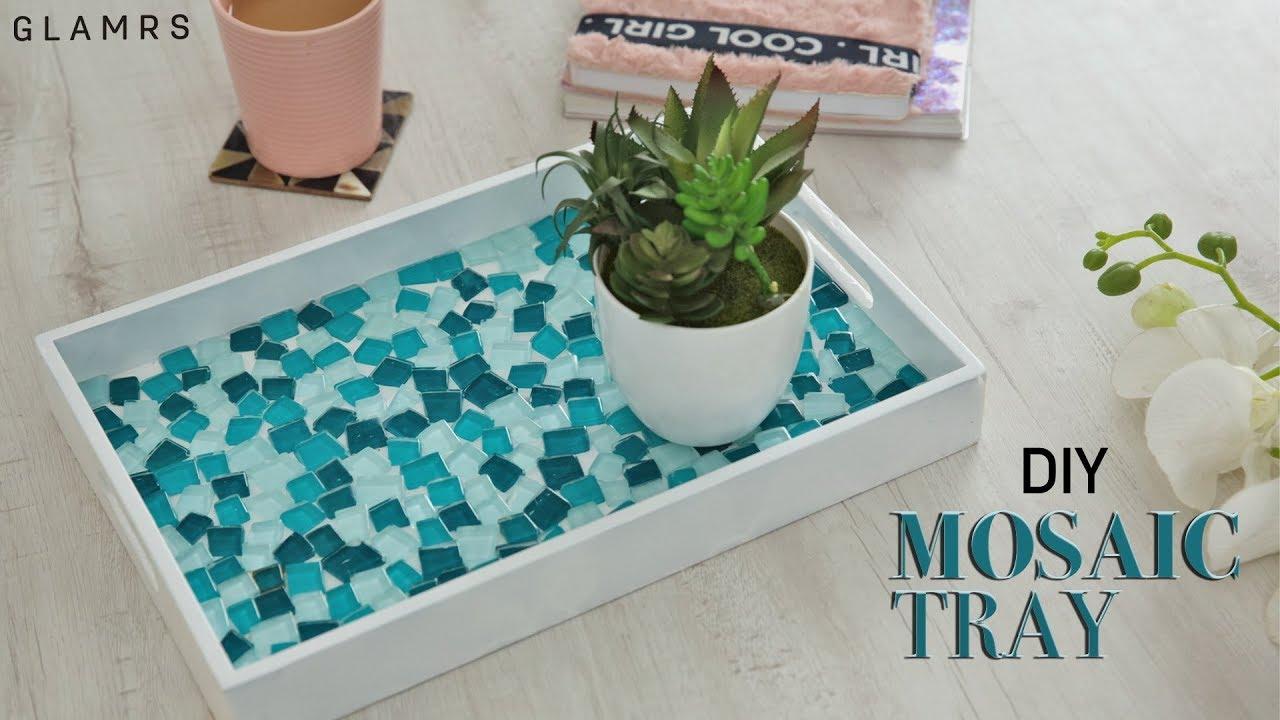 diy mosaic tiles serving tray glamrs diy