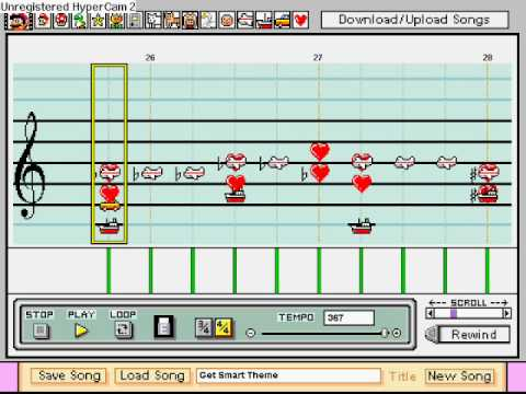 Get Smart Theme on Mario Paint Composer
