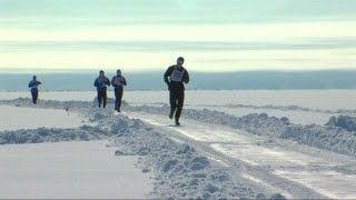 Baikal Ice Marathon Runners Brave Siberian Frost