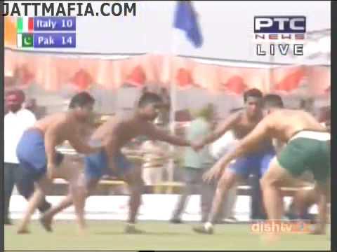 FIRST KABADDI WORLD CUP 2010 ITALY  VS  Pakistan  PART 1  BY JATTMAFIA.COM 10th april semi final