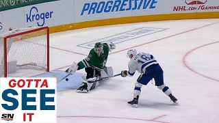 GOTTA SEE IT: Jake Oettinger Makes Incredible Point Blank Paddle Save On Ondrej Palat
