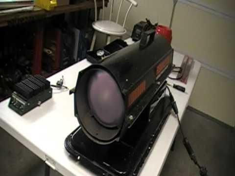 how to adjust a torpedo heater - YouTube