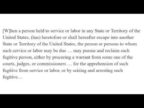 Fugitive Slave Act 1850 excerpt