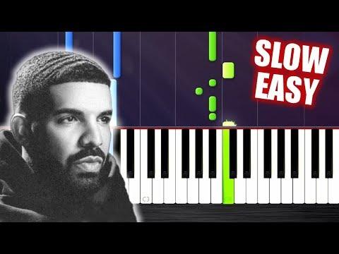 Drake - In My Feelings - SLOW EASY Piano Tutorial by PlutaX