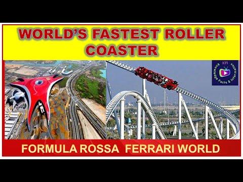 Formula Rossa World's Fastest Roller Coaster |Knowledge Facts & Information Ferrari World #Shorts
