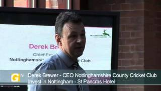 Derek Brewer, Chief Executive, Notts County Cricket Club, at Invest in Nottingham Day London 2011