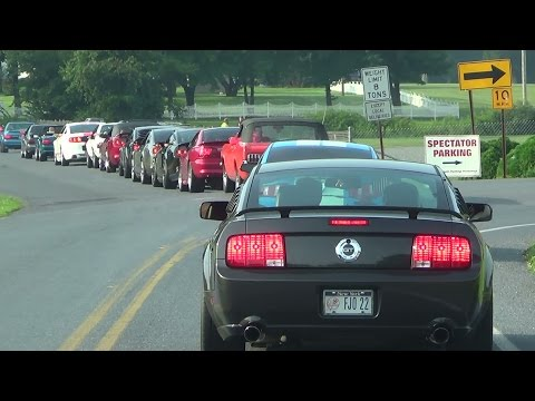 PT 1 Arrivals american muscle mustang show reading,pa 8-16-14