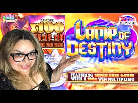 100X BONUS ROUND!  Lamp Of Destiny Slot Machine Bonuses at San Manuel Indian Bingo And Casino
