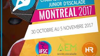 Championnat Panaméricain d'escalade Junior, Invitation Bloc Escalade- Horizon Roc- Climbing Gym