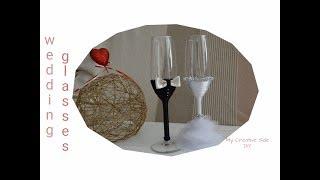 Kako ukrasiti case za vencanje |DIY| wedding glasses