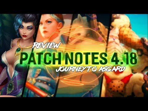 PATCH NOTES 4.18: JOURNEY TO ASGARD! YMIR ICE CREAM SKIN! - Incon - Smite