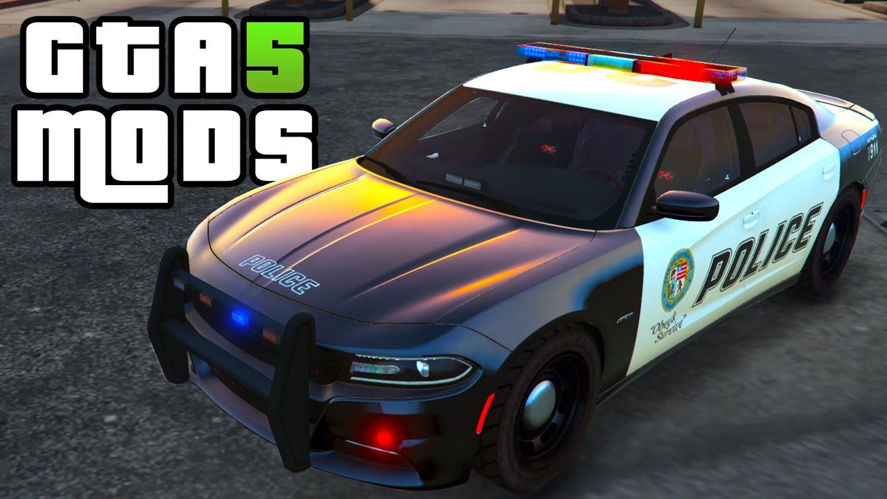 gta 5 pc mods 2015 dodge charger rt police car gta 5 car mod - Gta 5 Police Cars
