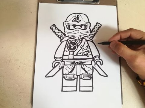 COMO DIBUJAR A LLOYD - NINJA GO / how to draw lloyd - ninja go - YouTube