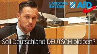 Christoph Maier (AfD) konfrontiert CSU-Minister: SOLL DEUTSCHLAND DEUTSCH BLEIBEN?