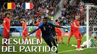FRANCIA VS BELGICA 1-0   Rusia 2018 - Resumen & Goles del partido desde el estadio