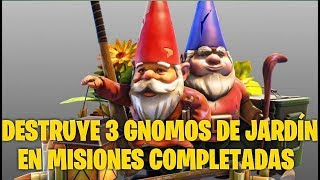 Destroy 3 Garden Gnomes Fortnite save the world