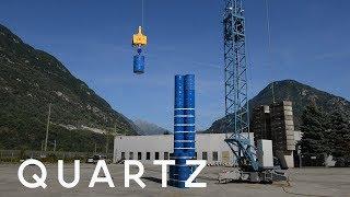 Storing energy in concrete blocks
