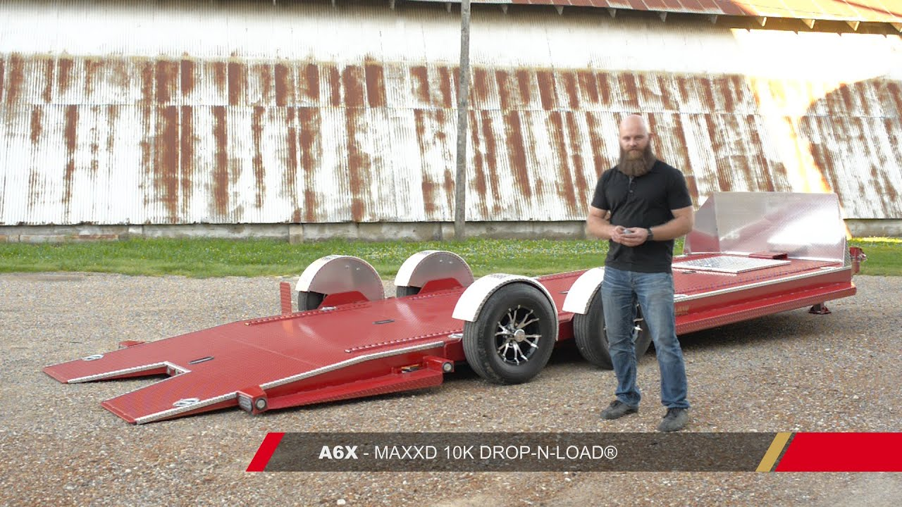 Bagged Car Trailer - A6X DROP-N-LOAD® by MAXXD Trailers - YouTube