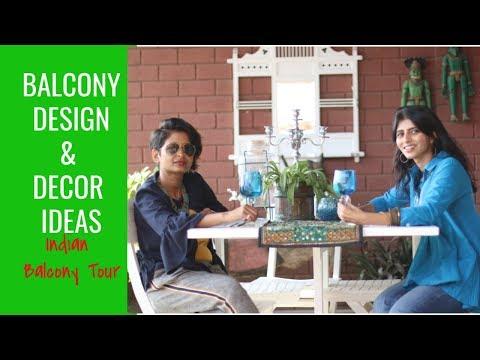 Balcony Decorating & Design Ideas : Indian Balcony Tour : DIY Home Decor 2019