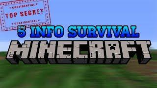 5 INFO SURVIVAL YANG MUNGKIN TIDAK KALIAN KETAHUI Minecraft Indonesia