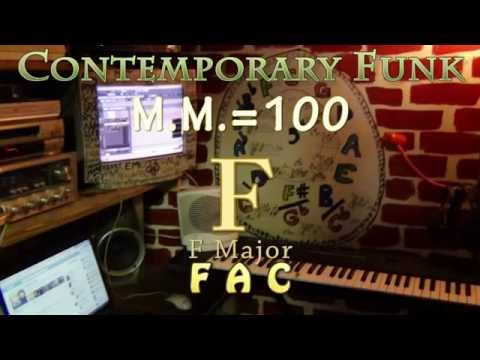 f major - one chord jamtrack - contemporary funk m.m. = 100