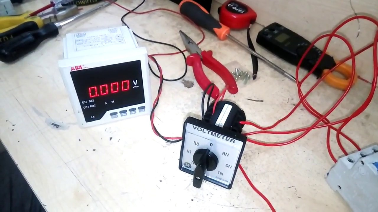 How To Connect Selector Switch How To Connect Voltmeter