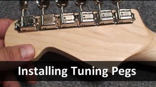 Installing Tuning Machines Into Your Guitar - Ant HIll Music