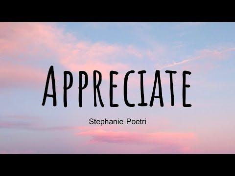 Stephanie Poetri – Appreciate (Lyrics) English Ver.