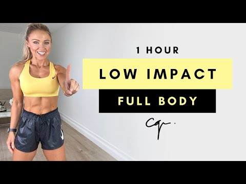 1 Hour LOW IMPACT FULL BODY WORKOUT at Home | Bodyweight Only