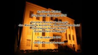 Audiência Pública - Orçamento Municipal 2019 - 17/10/2018