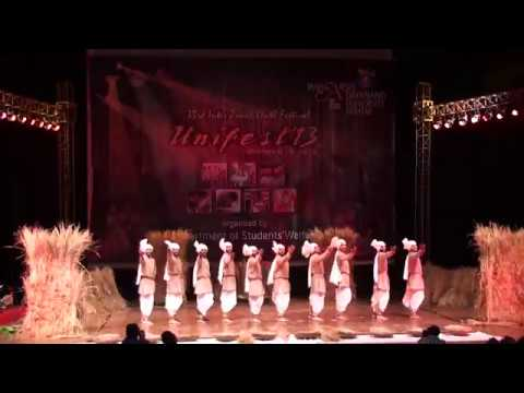 Haryanvi Folk Dance  Kissan Dance   Jam K Barso Ram Ji  National Youth Festival