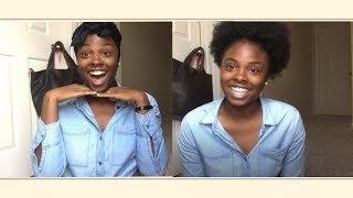 How to make a  BIG BEAUTIFUL 4C AFRO PUFF with  a $15 PONYTAIL   CHI CHI O.