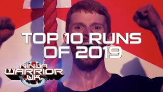 2019 TOP 10 MOST WATCHED Runs | Ninja Warrior UK | Ninja Warrior UK