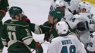 Gotta See It: Stewart accidentally takes a swing at Parise