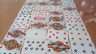 ПРОГНОЗ НА ГОД,♥ДАМА ЧЕРВОВАЯ,  ВАРИАНТ 1, гадание онлайн на игральных картах, цыганский расклад